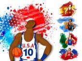 Basketball Player for Sports concept
