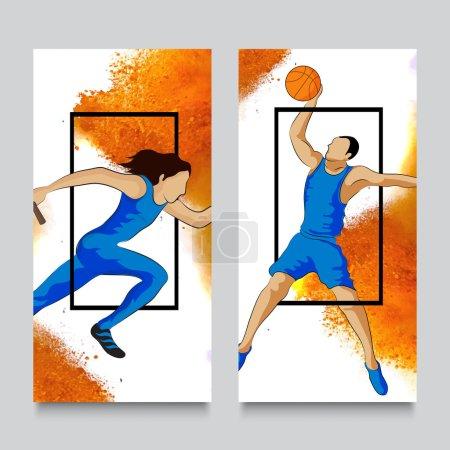 Website Banner set for Sports concept.