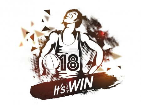 Basketball Player for Sports concept.