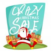 Crazy Christmas Sale Poster Banner or Flyer