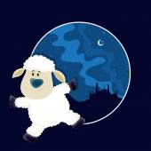 Baby Sheep for Eid-Al-Adha Mubarak