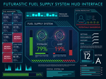 Fuel Supply System HUD Interface layout.