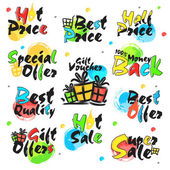 Sale and Discount Sticker Tag or Label design
