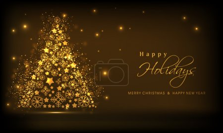 Concept of greeting card, poster and banner for Christmas.