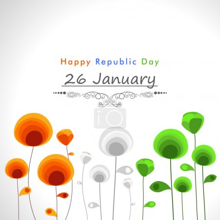 Indian Repulic Day celebration poster design.