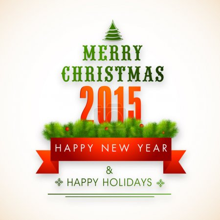 Concept of Merry Christmas and Happy New Year celebration.