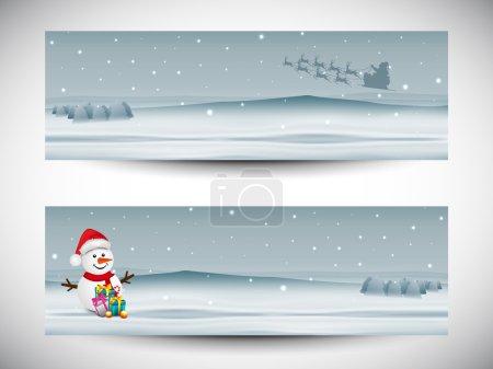 Merry Christmas celebration header or banner design.