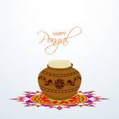 Concept of Happy Pongal celebrations