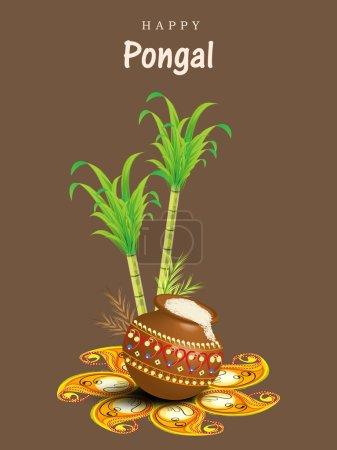 Happy Pongal festival celebration concept.