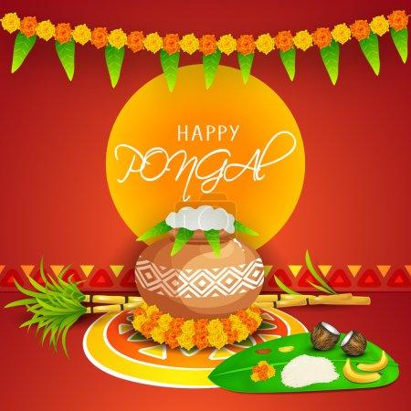 South Indian festival Happy Pongal celebration concept.