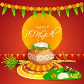 South Indian festival Happy Pongal celebration concept