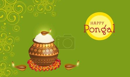 Concept of celebrating Happy Pongal festival.
