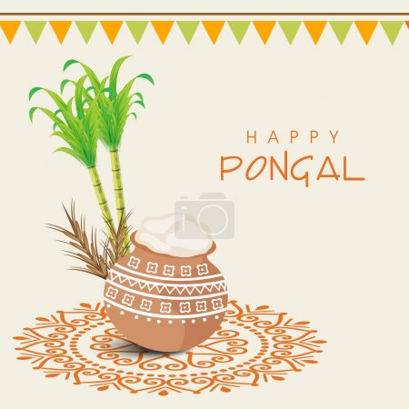 Concept of South Indian festival, Happy Pongal celebrations.
