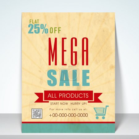 Sale poster, flyer or template.