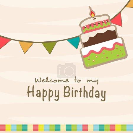 Birthday Invitation card design.