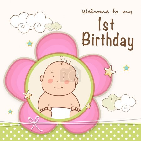 1st Birthday Invitation card design.