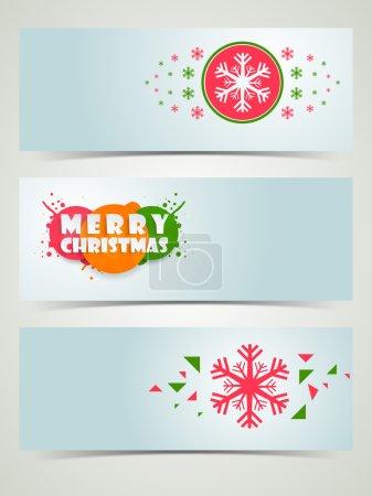 Merry Christmas celebration banner or web header.