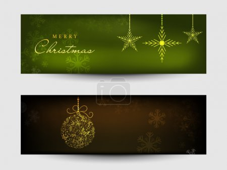 Web header or banner set for Merry Christmas celebration.