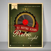Concept of brochure flyer and template for night party