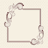 Beautiful floral design decorated frame in square shape