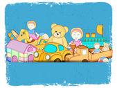 Many colourful toys set