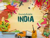 Poster or banner design of Incredible India