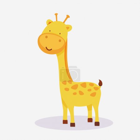 Concept of a giraffe animal cartoon.