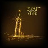 Golden bat and ball for Cricket Fever