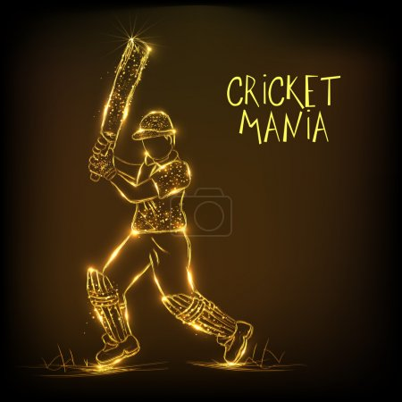 Cricket sports concept with batsman.