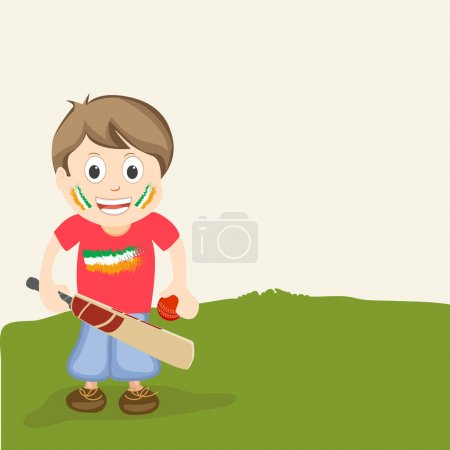 Cricket sports concept with cute
