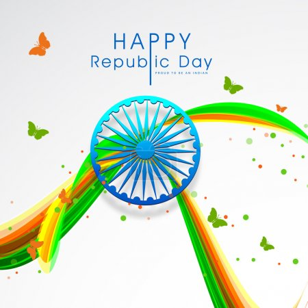 Greeting card design for Indian Republic Day celebration.