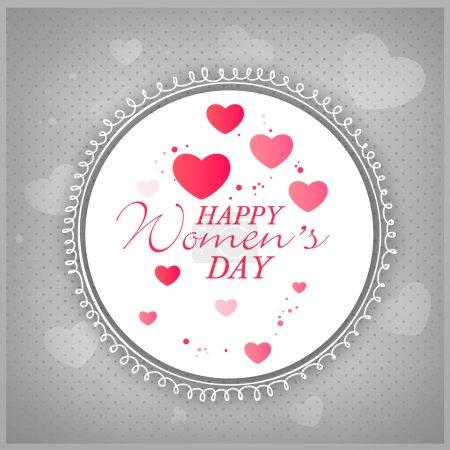 Beautiful frame for International Women's Day celebration.