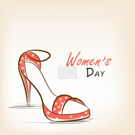 Ladies shoe for International Women's Day celebration.