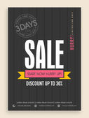 Limited time period sale flyer or banner design