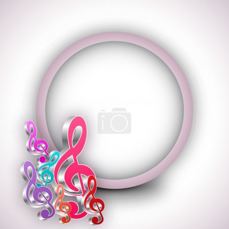 Musical notes with rounded frame.