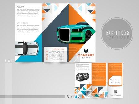 Illustration pour Brochure, dépliant ou catalogue triples professionnels pour le secteur automobile . - image libre de droit