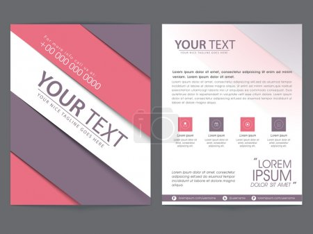 Brochure, template or flyer design for business.