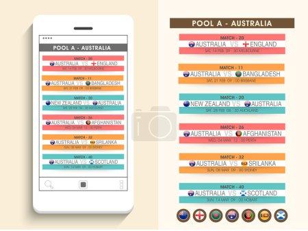 Australia, World Cup 2015 match schedule.