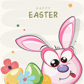Greeting card design for Happy Easter celebration