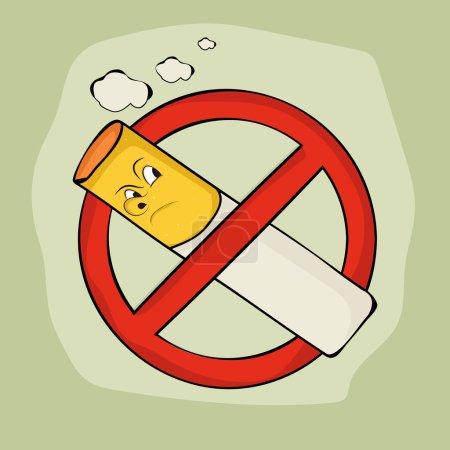 Anti smoking sign and symbol on stylish background...