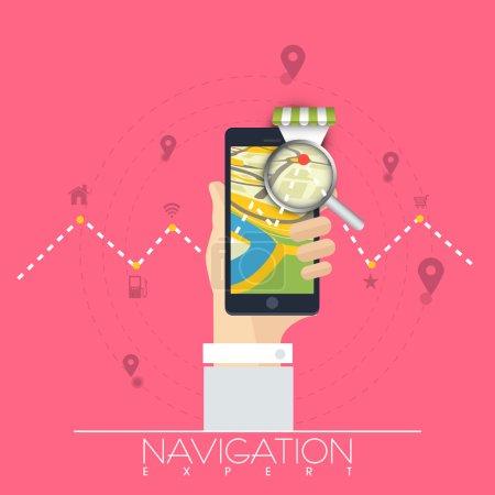 Navigation par carte avec smartphone .