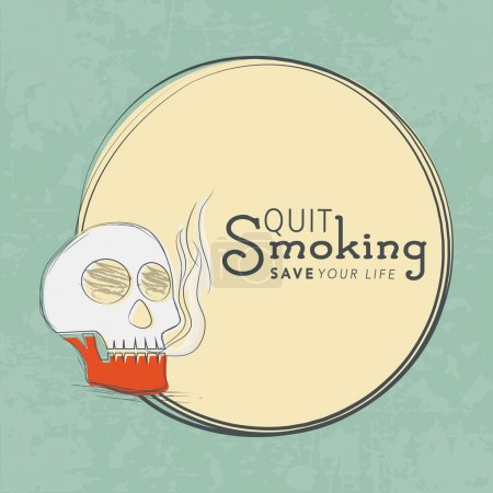 No Smoking Day concept with human skull and text Q...