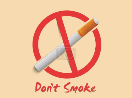 Poster, banner or flyer for No Smoking Day.