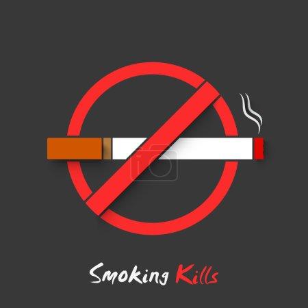 Affiche, bannière ou un flyer pour la journée sans tabac