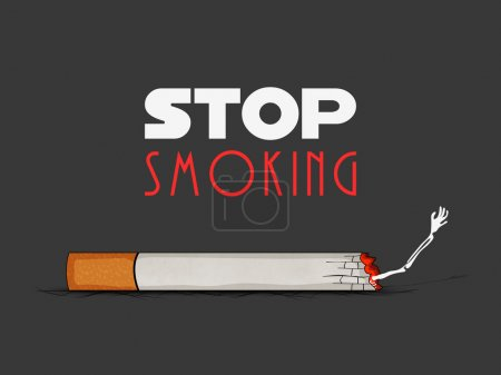 No Smoking Day concept with illustration of human ...