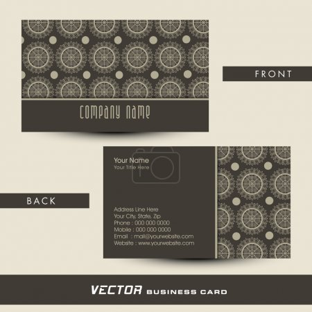 Stylish business or visiting card design.
