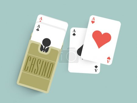 Ace cards for Casino.