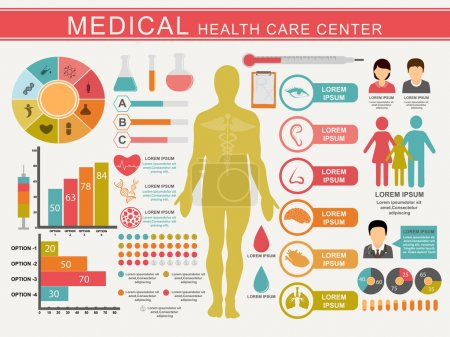 Set of Medical Health Care Center.
