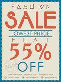 Poster banner or flyer design for fashion sale