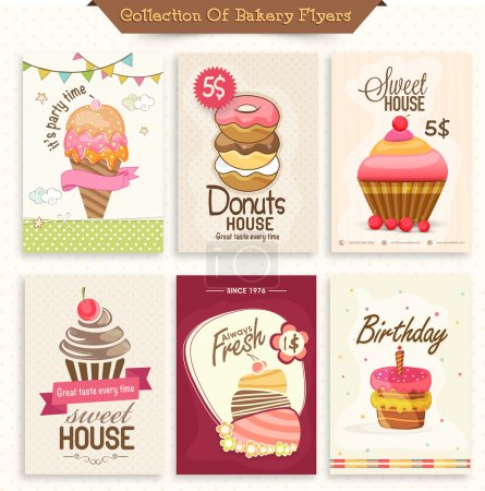 Collection of bakery flyers.